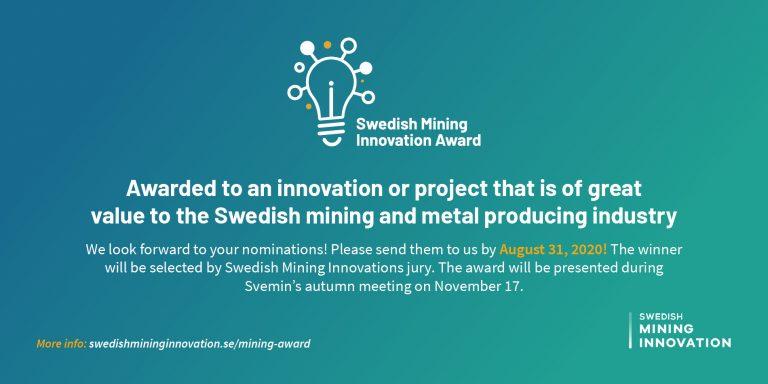 Swedish Mining Innovation Award - nominera