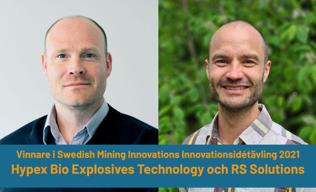 Thomas Gustavsson, CEO, Hypex Bio Explosives Technology AB och Jesper Martinsson, CTO, RS Solutions AB